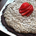 Coconut Chia Pudding Pie With Black Bean Cocoa Crust