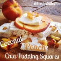 Coconut Peach Chia Pudding Squares