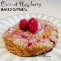 Coconut Raspberry Baked Oatmeal