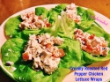 Creamy Roasted Red Pepper Chicken Lettuce Wraps