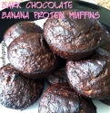 Dark Chocolate Banana Protein Muffins
