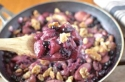 Easy Five Ingredient Skillet Blueberry-Peach Crumble!