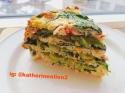 Egg White Chicken Quiche-Cake With Guacamole