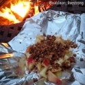 Fire Pit Apple Crisp