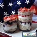 Firecracker Strawberry & Blueberry Cottage Cheese Overnight Oats With Layered Greek Yogurt