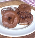 Five Minute Chocolate Mint Glazed Donuts