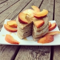 Fluffy Zucchini Bread Pancakes With Peaches