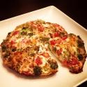 Four-Ingredient Broccoli, Bell Pepper & Tomato Egg White Quiche
