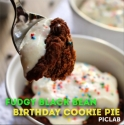 Fudgy Black Bean Birthday Cookie Pie