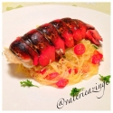 Garlic Buttered Broiled Lobster With Stir Fry Spaghetti Squash