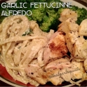 Low Fat Garlic Chicken Alfredo