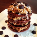 German Chocolate Protein Pancakes