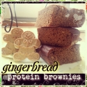 Gingerbread Protein Brownies