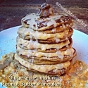 Gingered Pumpkin Peanut Butter Pancakes