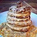 Gingered Pumpkin Peanut Butter Pancakes