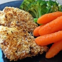 Gluten Free Baked Rice Chex Coconut Chicken