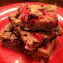 Gluten-Free White Bean Berry Blondies