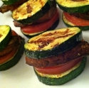 Grilled Garlic Zucchini & Portobello Sliders