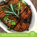 Herby Accordion Sweet Potato