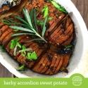 Herby Accordion Sweet Potato