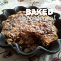 High Protein Dark Chocolate Baked Oatmeal