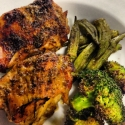 Honey Mustard Glazed Chicken Thighs