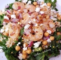 Kale, Chickpea & Barley Salad With Shrimp