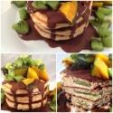 Kiwi-Stuffed Peanut Butter Pancakes