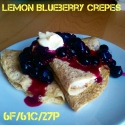 Lemon Blueberry (Protein) Crepes