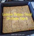 Lemon Poppy Seed Protein Bars