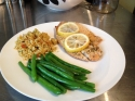 Lemon Tilapia Baked In Foil With Asparagus and Couscous
