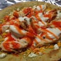 Light Buffalo Ranch Chicken Tortilla Pizza