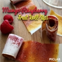 Mango Raspberry Fruit Roll-Ups
