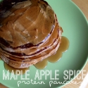 Maple Apple Spice Protein Pancakes