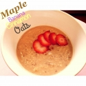 Maple Banana Cinnamon Oats