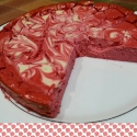 Marbled Red Velvet Protein Cheesecake