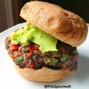 Marinated Shiitake Mushroom Burger