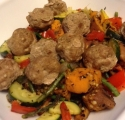 Meatball Sweet Potato Stir-Fry