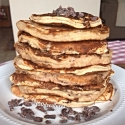 Mint Chocolate Chip French Toast Pancakes