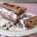 Mint Chocolate Chip Ice Cream Slice