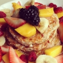 Mixed Fruit Protein Pancakes