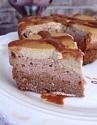Mocha and Salted Caramel Cheesecake