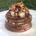 Mocha Cookie Crumble Pancakes