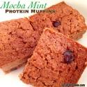 Mocha Mint Protein Muffins
