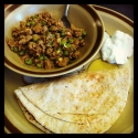 Muttar Chicken Keema - Indian Dish