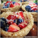 No-Bake Peanut Butter Fruit Tarts