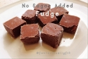 No Sugar Added Fudge