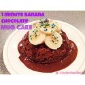 One Minute Banana Chocolate Mug Cake