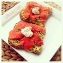 Open Face Salmon Sandwich