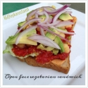 Open Face Vegetarian Sandwich